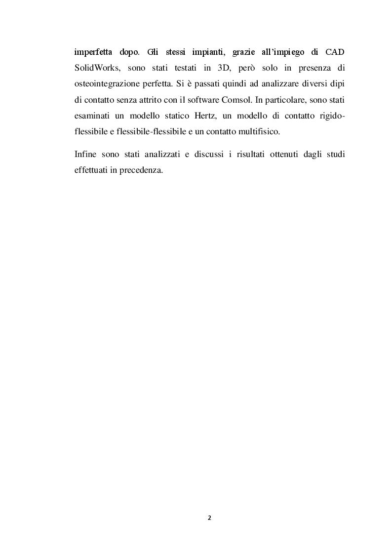 Anteprima della tesi: Analisi dei modelli per l'analisi del contatto fra osso e protesi, Pagina 3
