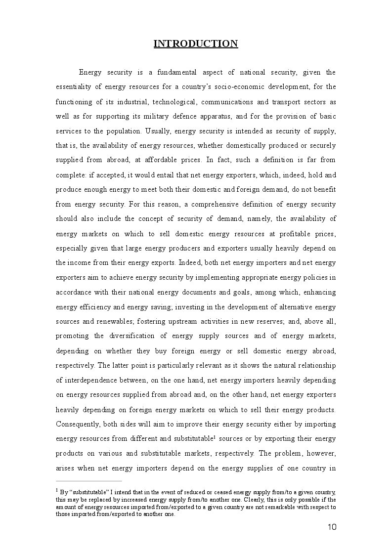 Anteprima della tesi: Three paths to energy security and Italy's future energy perspectives, Pagina 2