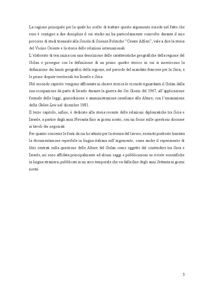Anteprima della tesi: Le Alture della Discordia: il Golan tra Siria e Israele, Pagina 3