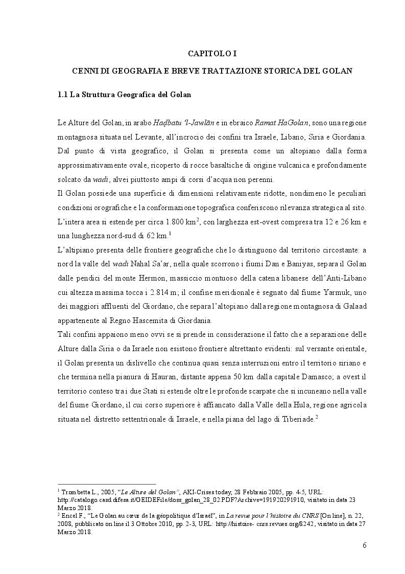 Anteprima della tesi: Le Alture della Discordia: il Golan tra Siria e Israele, Pagina 4