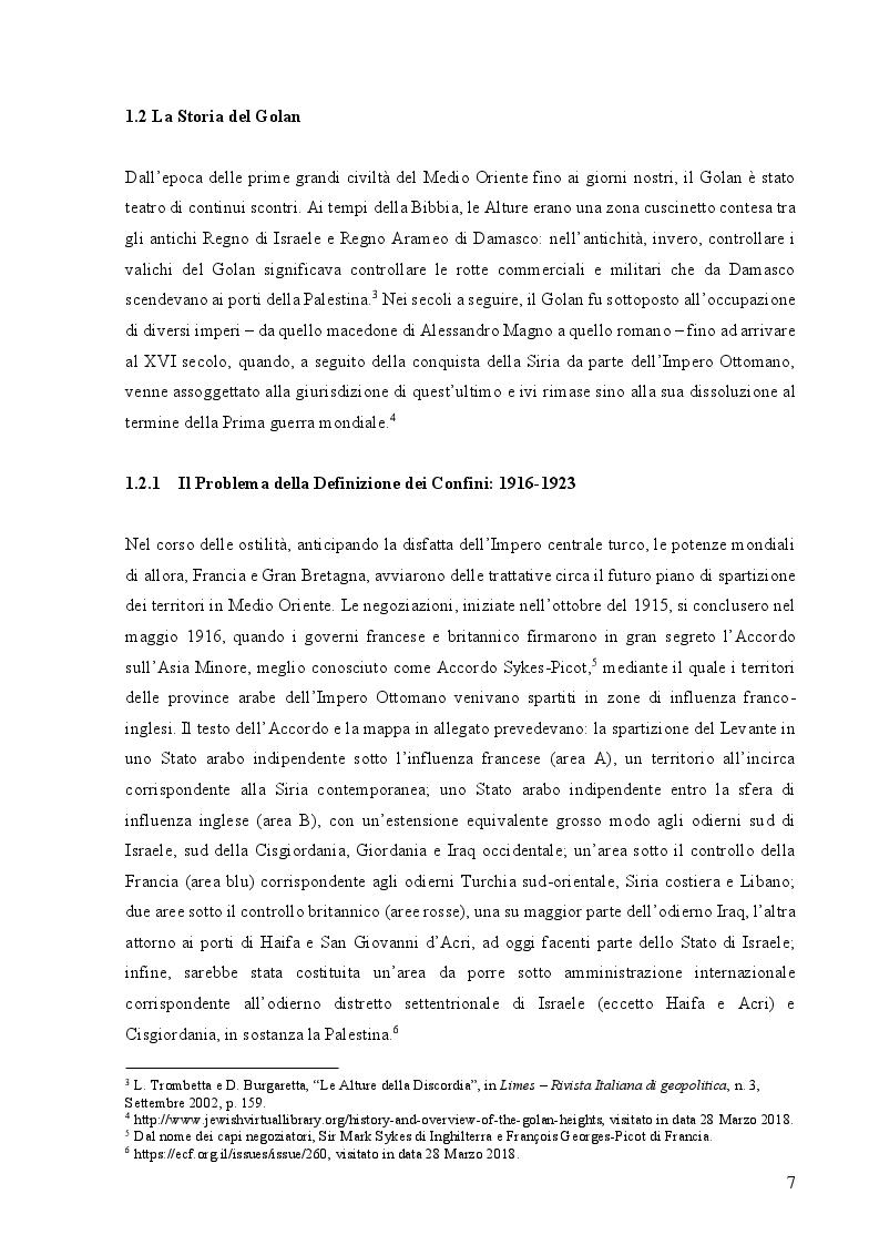 Anteprima della tesi: Le Alture della Discordia: il Golan tra Siria e Israele, Pagina 5