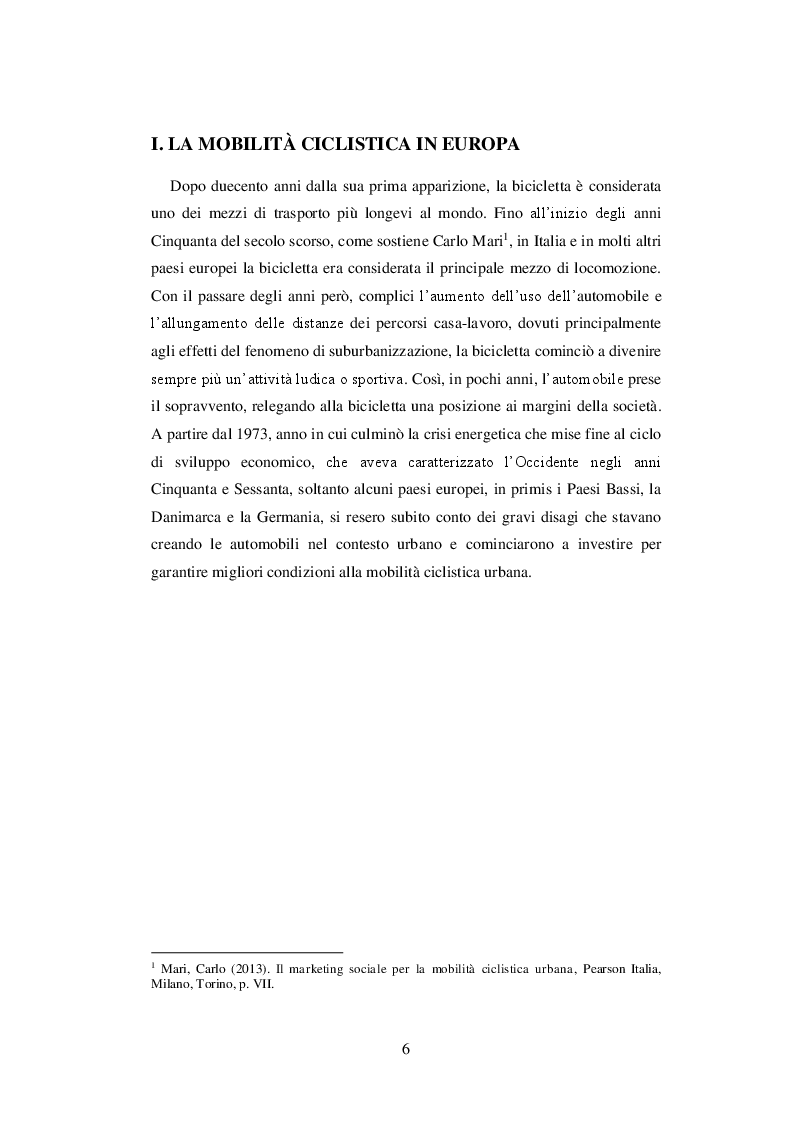 Anteprima della tesi: Come promuovere la mobilità ciclistica urbana: analisi di strategie comunicative adottate da cinque città europee, Pagina 4