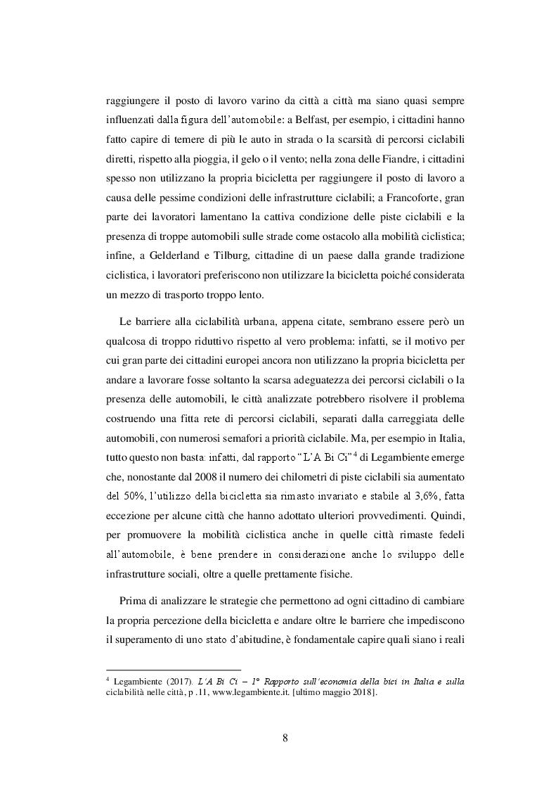 Anteprima della tesi: Come promuovere la mobilità ciclistica urbana: analisi di strategie comunicative adottate da cinque città europee, Pagina 6