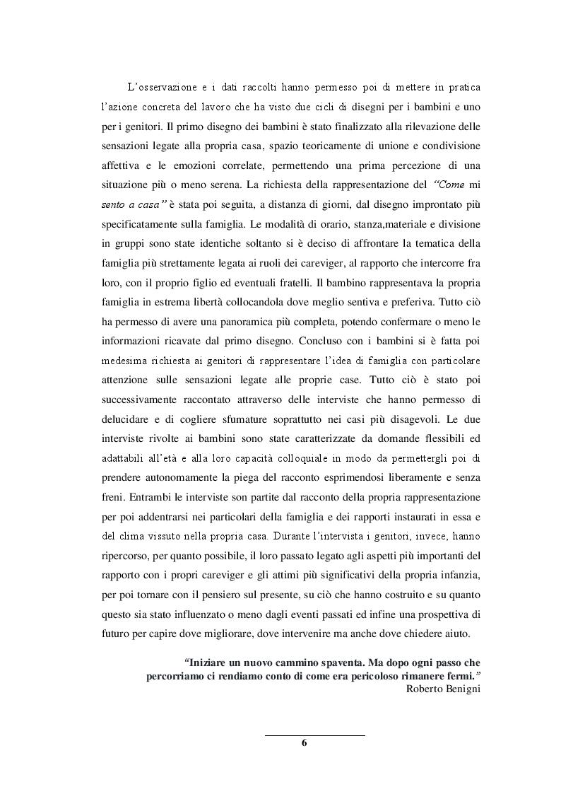 Anteprima della tesi: Sentirsi a casa - un'indagine esplorativa nella Scuola dell'Infanzia ''Il melograno'', Pagina 6