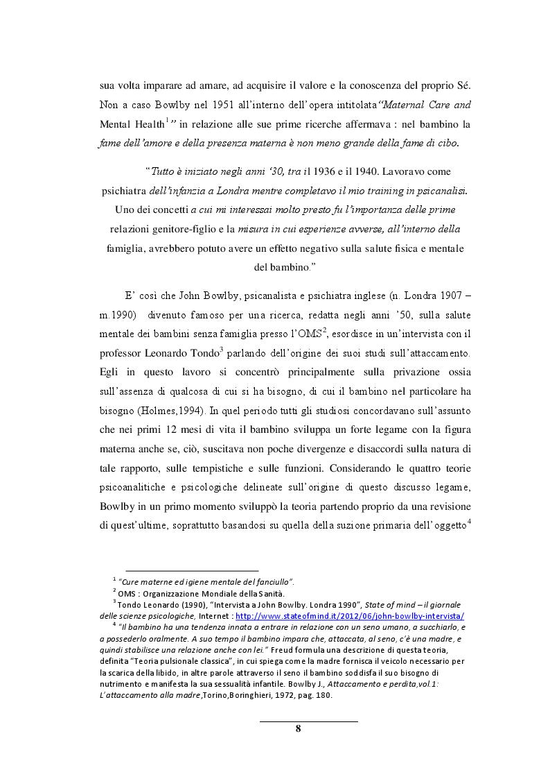 Anteprima della tesi: Sentirsi a casa - un'indagine esplorativa nella Scuola dell'Infanzia ''Il melograno'', Pagina 8