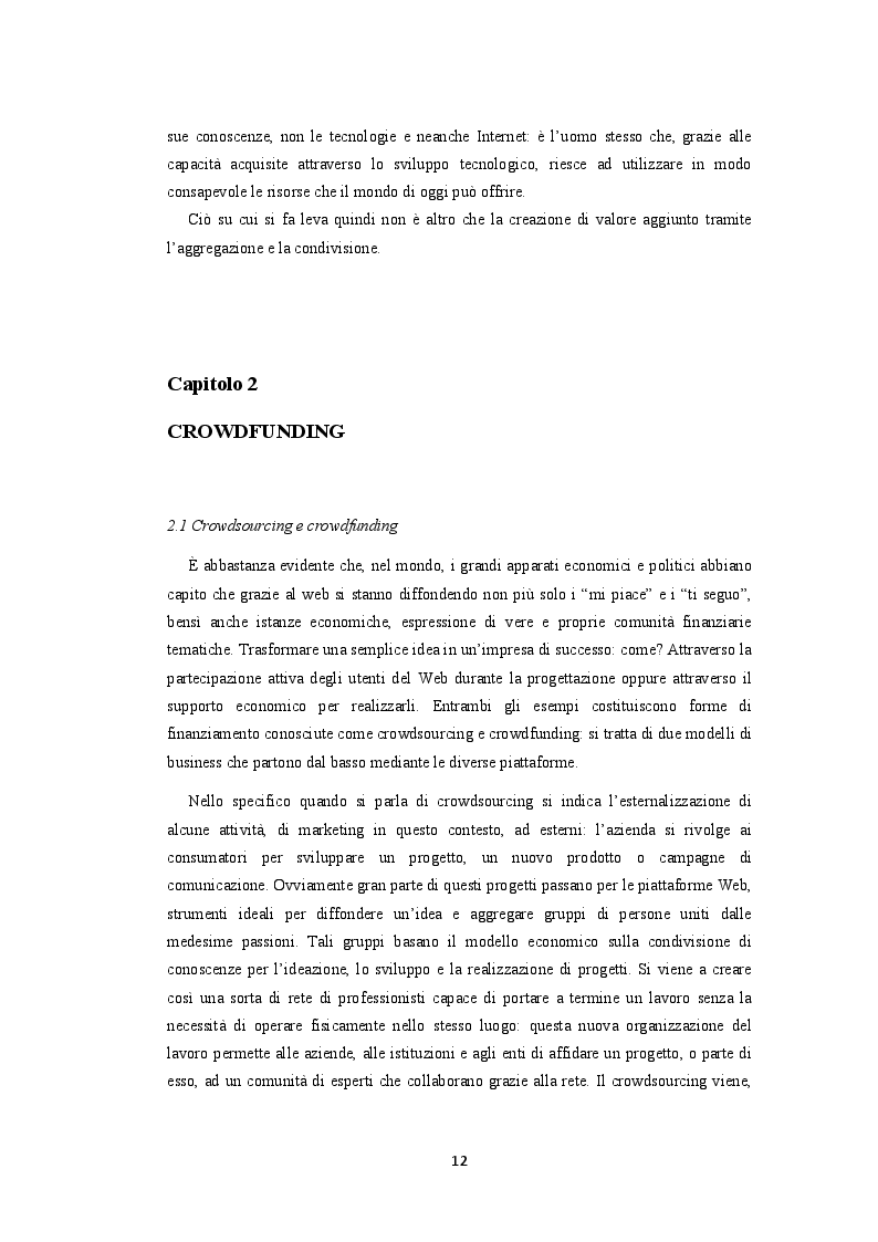 Estratto dalla tesi: Crowdfunding. La finanza social al servizio della produzione culturale