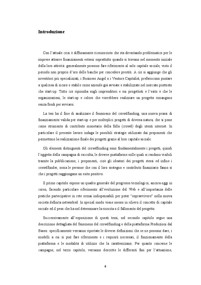 Anteprima della tesi: Crowdfunding. La finanza social al servizio della produzione culturale, Pagina 2