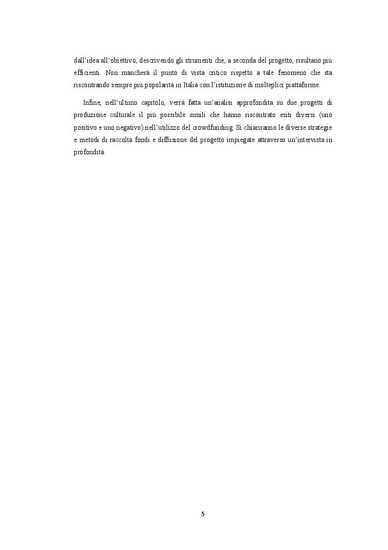 Anteprima della tesi: Crowdfunding. La finanza social al servizio della produzione culturale, Pagina 3