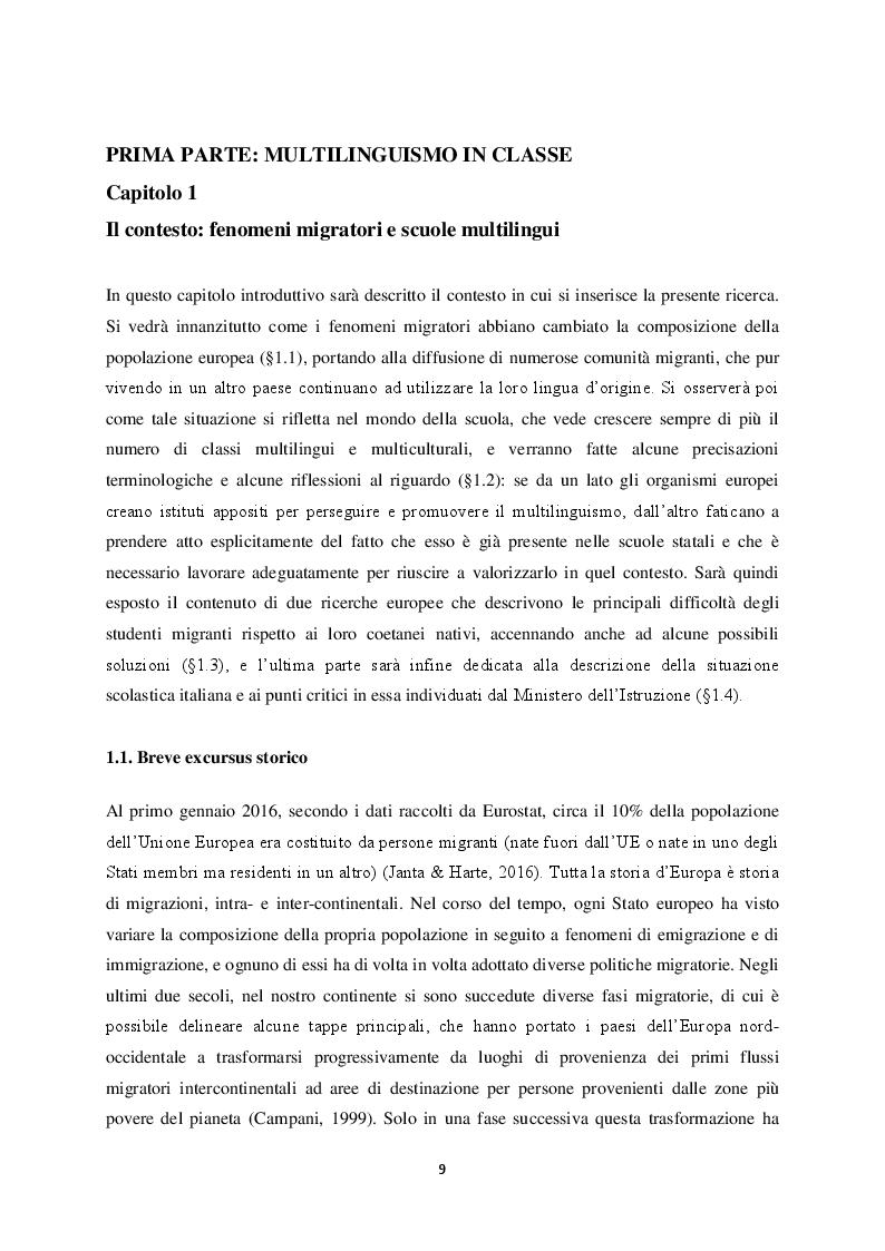 Anteprima della tesi: Il multilinguismo europeo: la risposta delle scuole e le politiche linguistiche, Pagina 5