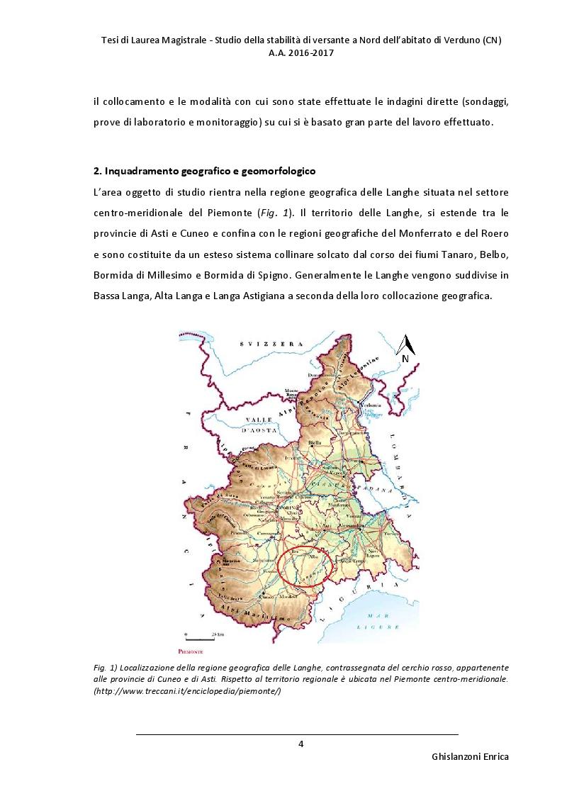 Anteprima della tesi: Studio della stabilità di versante a Nord dell'abitato di Verduno (CN), Pagina 3