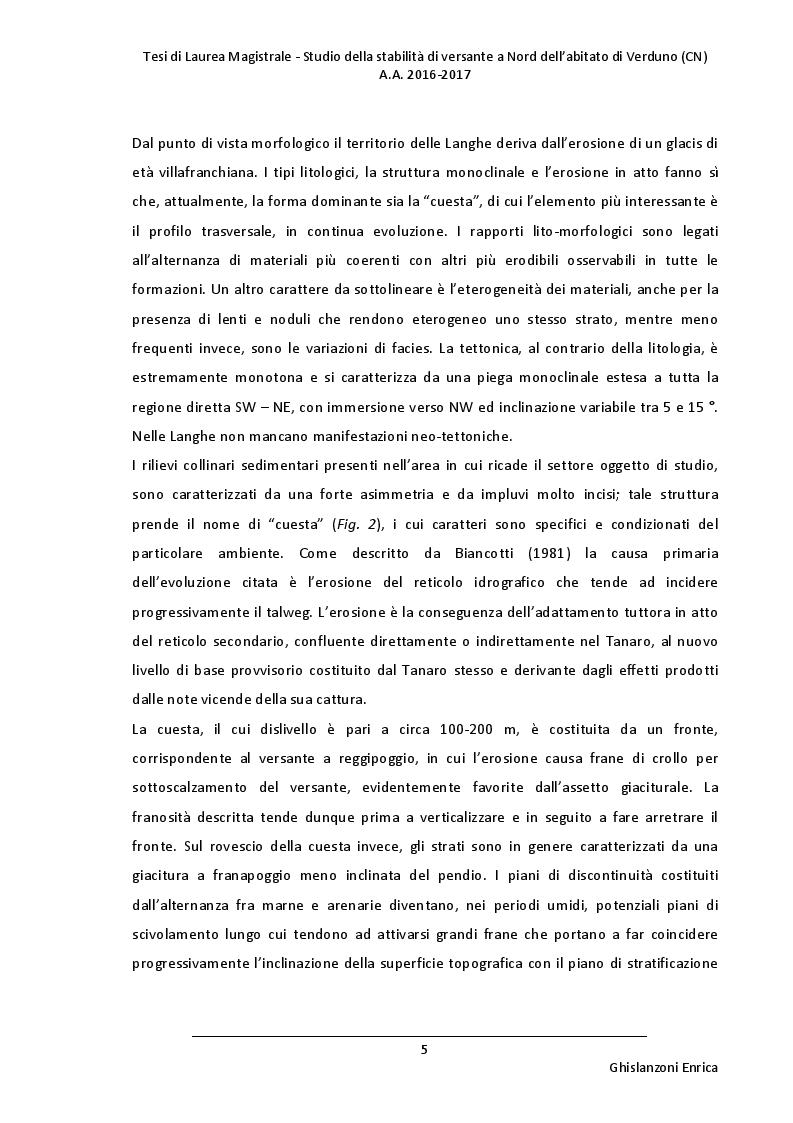 Anteprima della tesi: Studio della stabilità di versante a Nord dell'abitato di Verduno (CN), Pagina 4