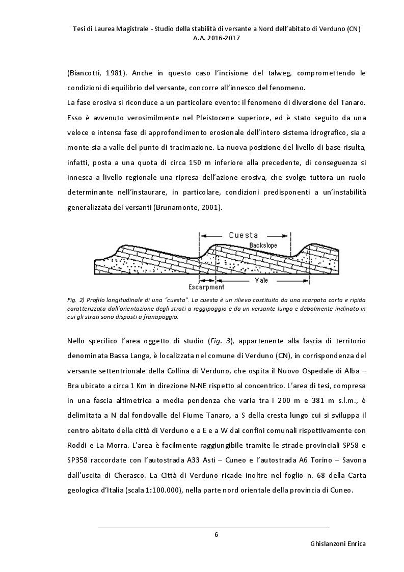 Anteprima della tesi: Studio della stabilità di versante a Nord dell'abitato di Verduno (CN), Pagina 5