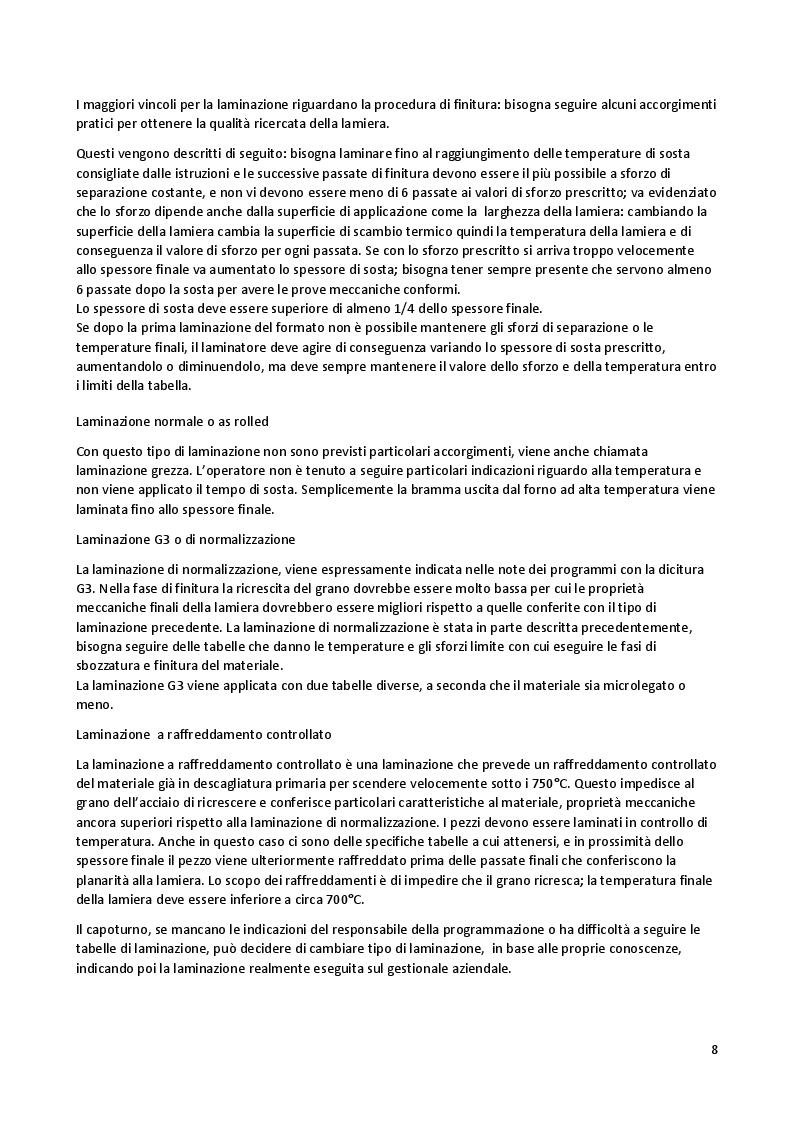 Estratto dalla tesi: Studio e correlazione tra metodi di laminazione, proprietà intrinseche dei metalli e  risultati dei test meccanici