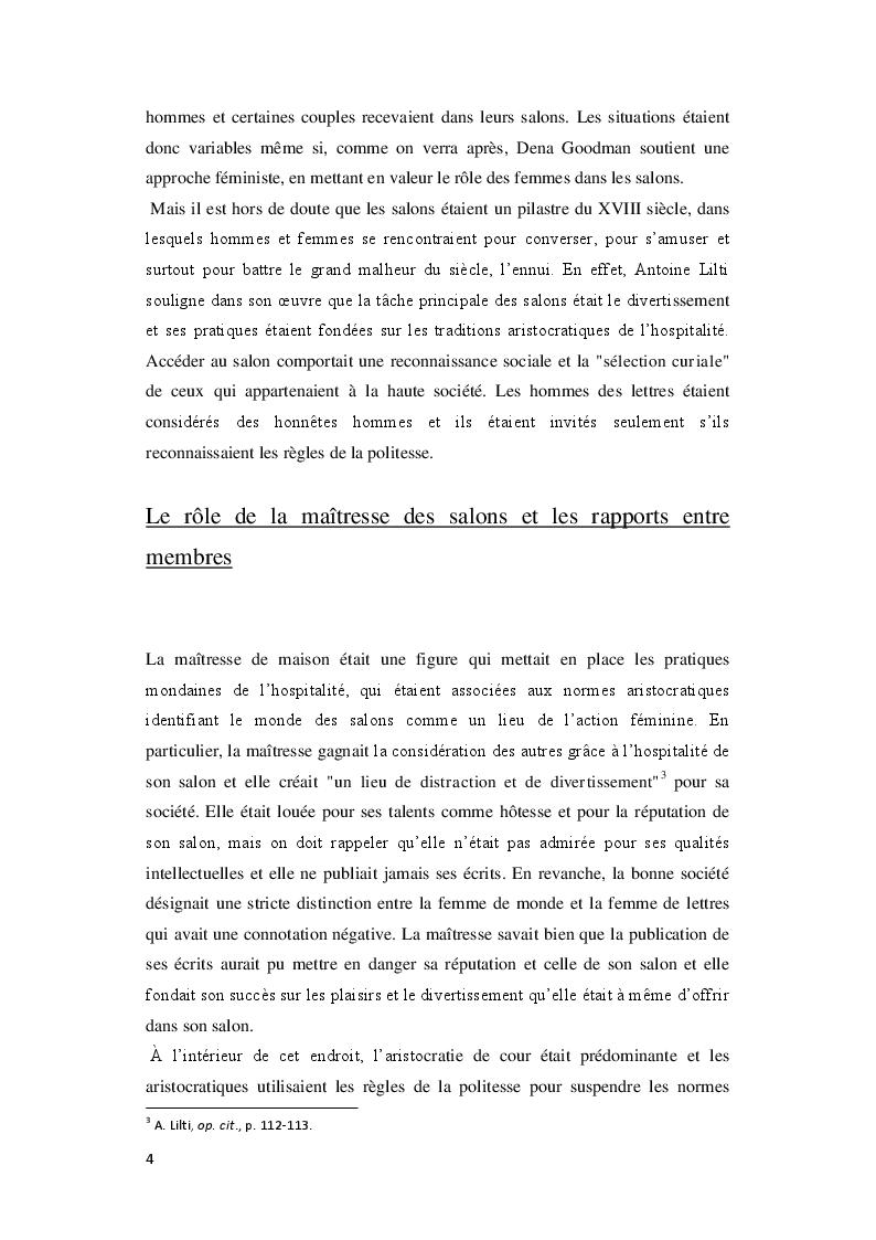 Anteprima della tesi: Le Royaume de la politesse: l'identité des femmes à la période des Lumières et de la culture salonnière, Pagina 5