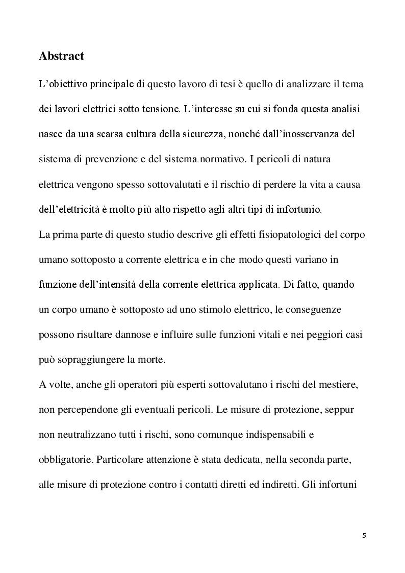 Anteprima della tesi: Lavori elettrici sotto tensione: aspetti normativi e organizzativi, Pagina 2