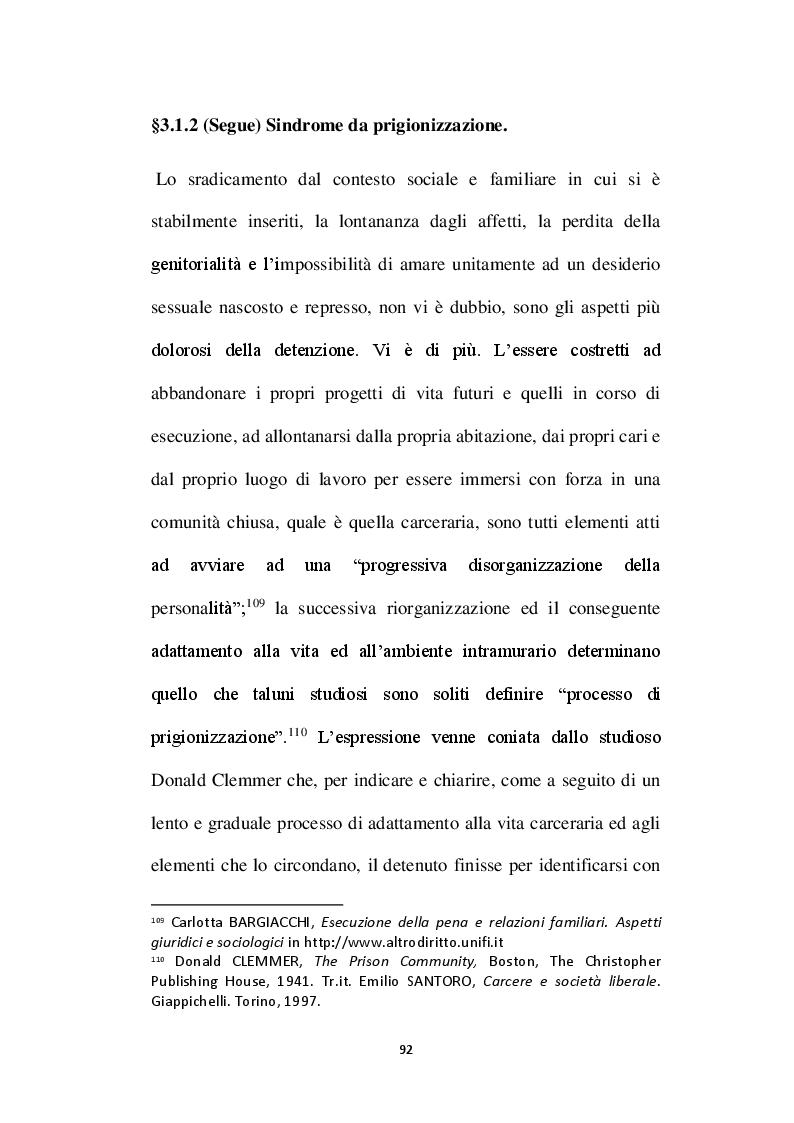 Anteprima della tesi: L'affettività alla prova del carcere: disciplina vigente e prospettive di riforma, Pagina 9