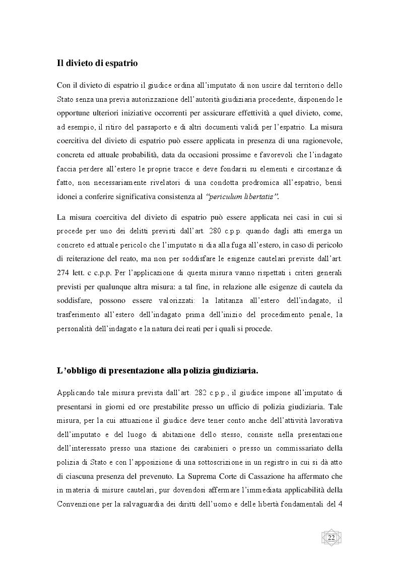 Anteprima della tesi: Le misure cautelari tra principi costituzionali ed esigenze di difesa sociale, Pagina 3