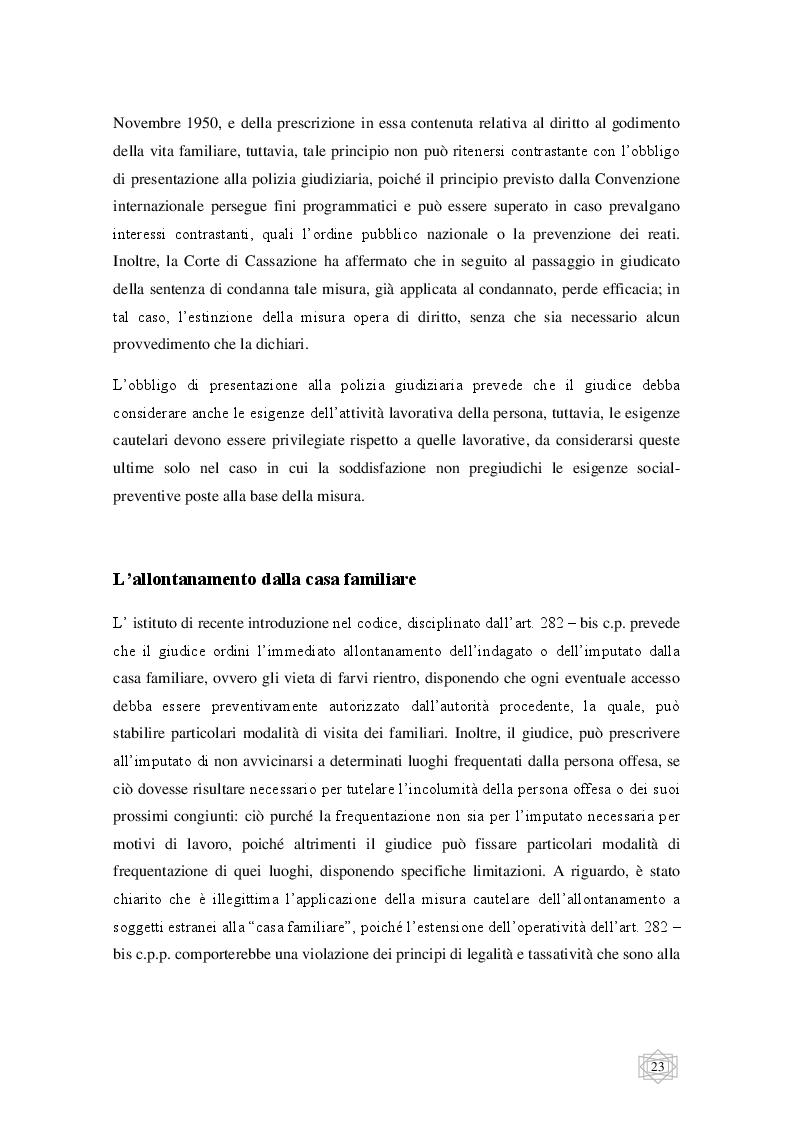 Anteprima della tesi: Le misure cautelari tra principi costituzionali ed esigenze di difesa sociale, Pagina 4