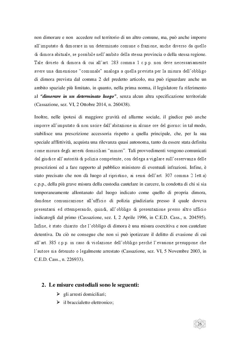 Anteprima della tesi: Le misure cautelari tra principi costituzionali ed esigenze di difesa sociale, Pagina 7