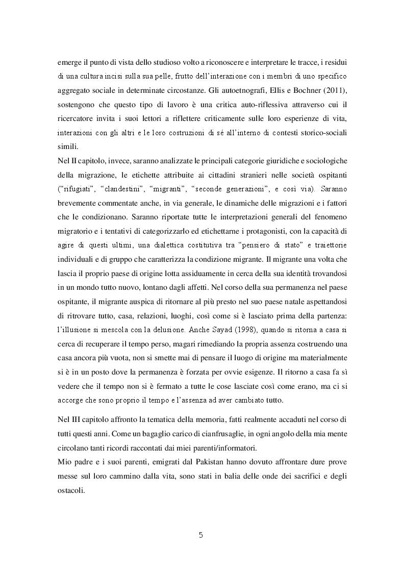 Anteprima della tesi: Migrazioni e seconde generazioni: uno sguardo autoetnografico, Pagina 3