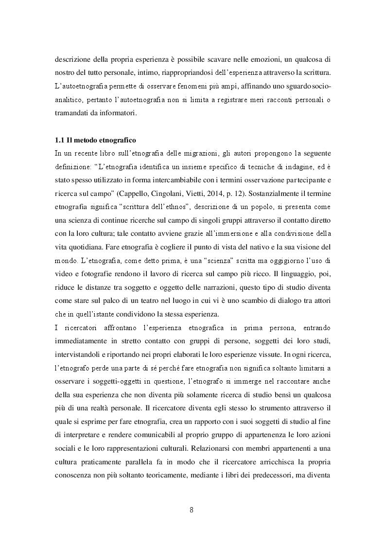 Anteprima della tesi: Migrazioni e seconde generazioni: uno sguardo autoetnografico, Pagina 6