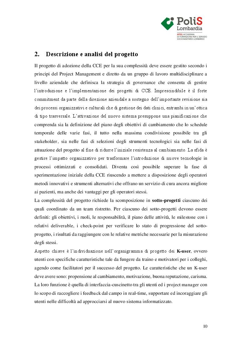 Estratto dalla tesi: Approccio metodologico all'introduzione della cartella clinica elettronica in Urologia e Ginecologia