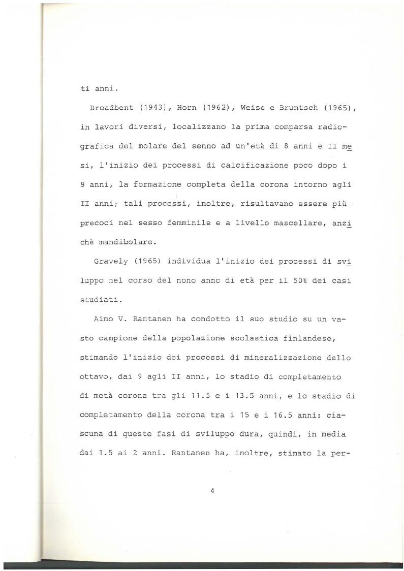 Anteprima della tesi: Indagine clinico statistica epoca di sviluppo e mineralizzazione terzo molare, Pagina 3