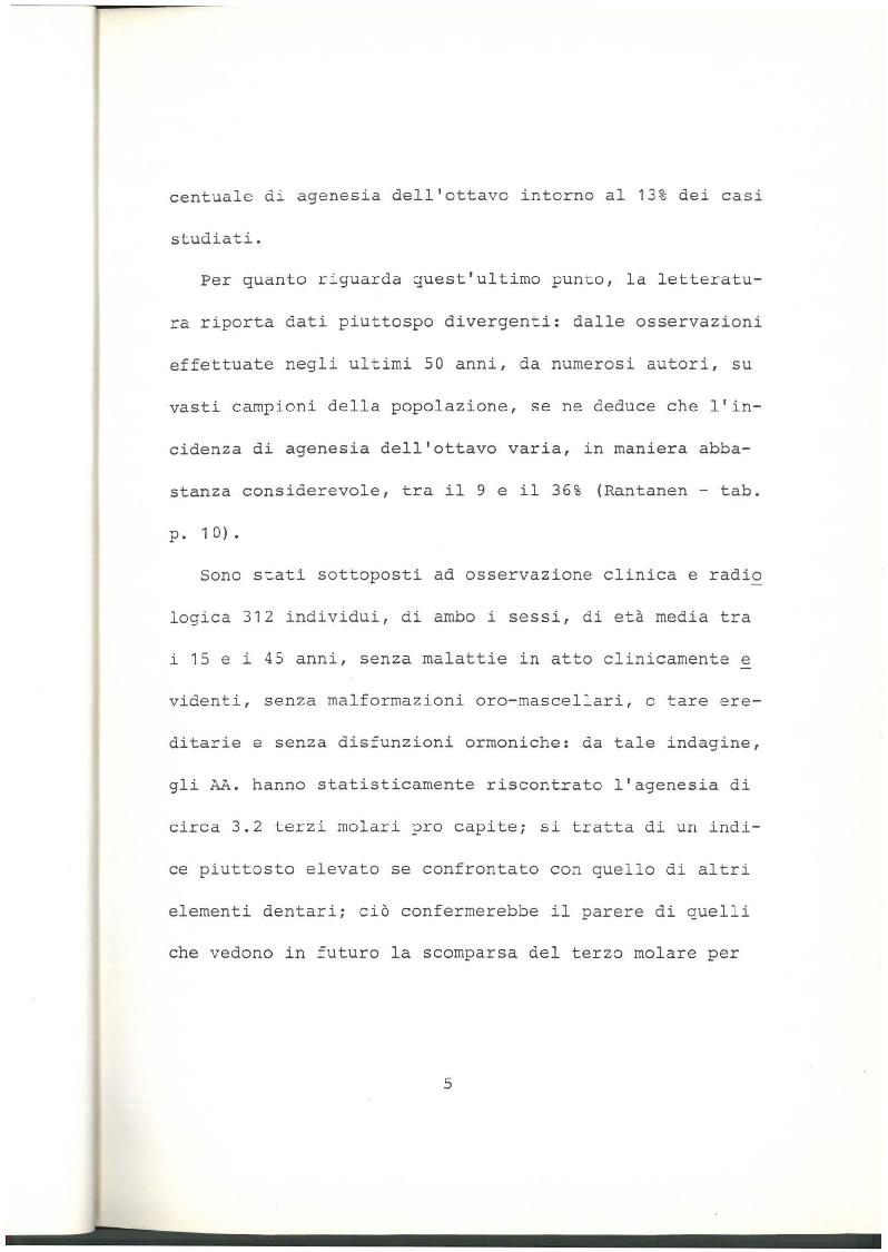 Anteprima della tesi: Indagine clinico statistica epoca di sviluppo e mineralizzazione terzo molare, Pagina 4