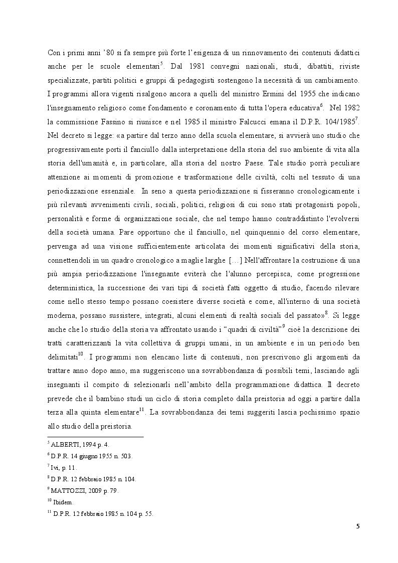Anteprima della tesi: L'insegnamento della preistoria nella scuola italiana, Pagina 4