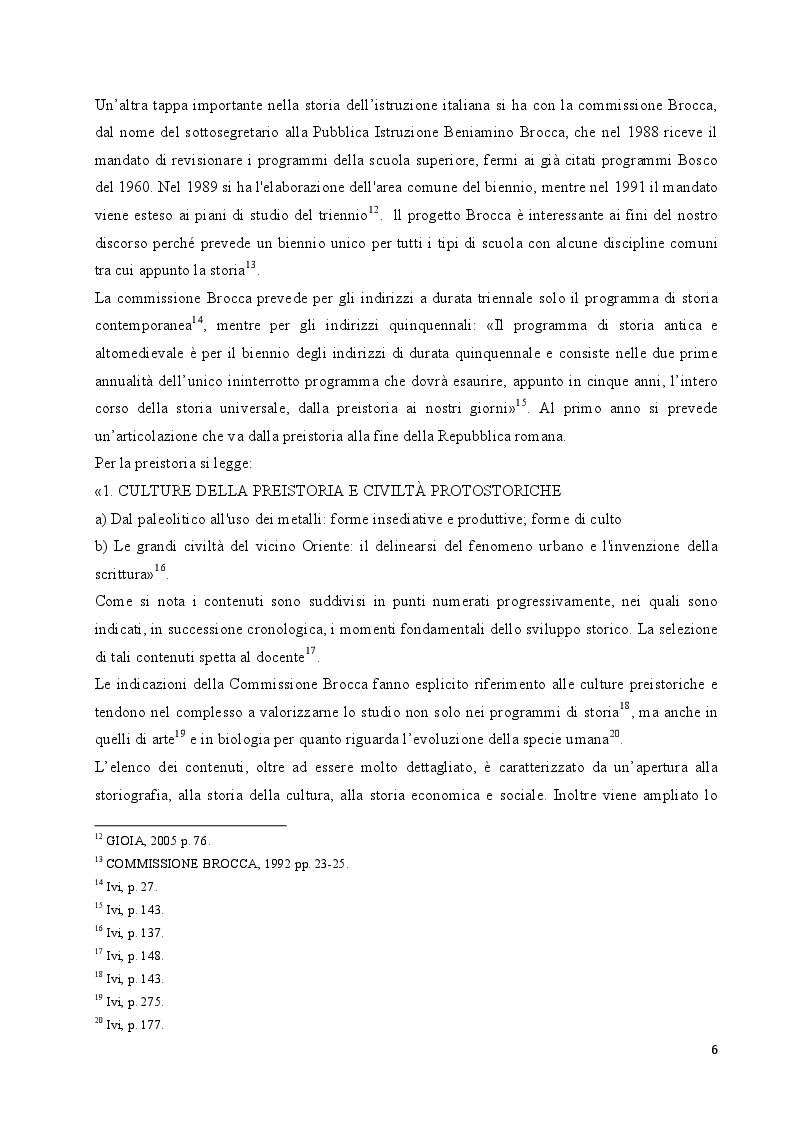 Anteprima della tesi: L'insegnamento della preistoria nella scuola italiana, Pagina 5