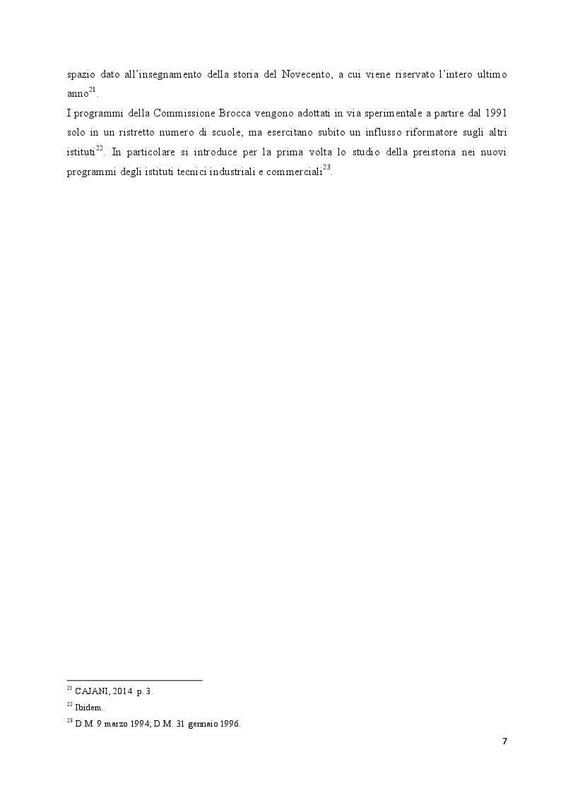 Anteprima della tesi: L'insegnamento della preistoria nella scuola italiana, Pagina 6