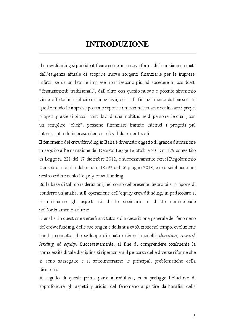 Anteprima della tesi: L'operazione di Equity Crowdfunding, Pagina 2