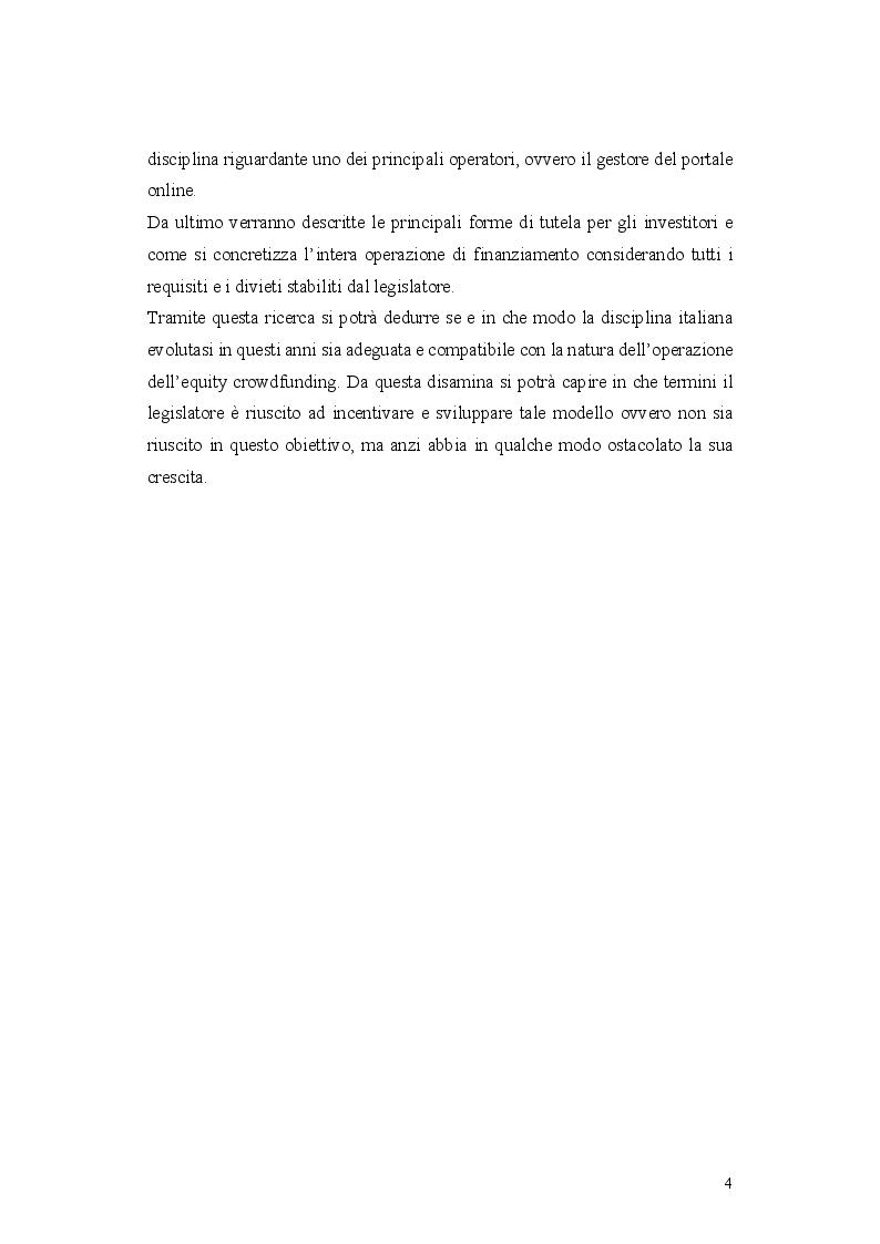 Anteprima della tesi: L'operazione di Equity Crowdfunding, Pagina 3