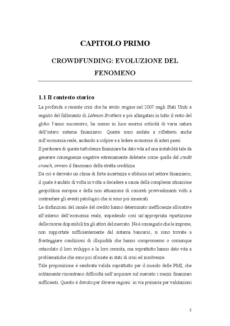 Anteprima della tesi: L'operazione di Equity Crowdfunding, Pagina 4