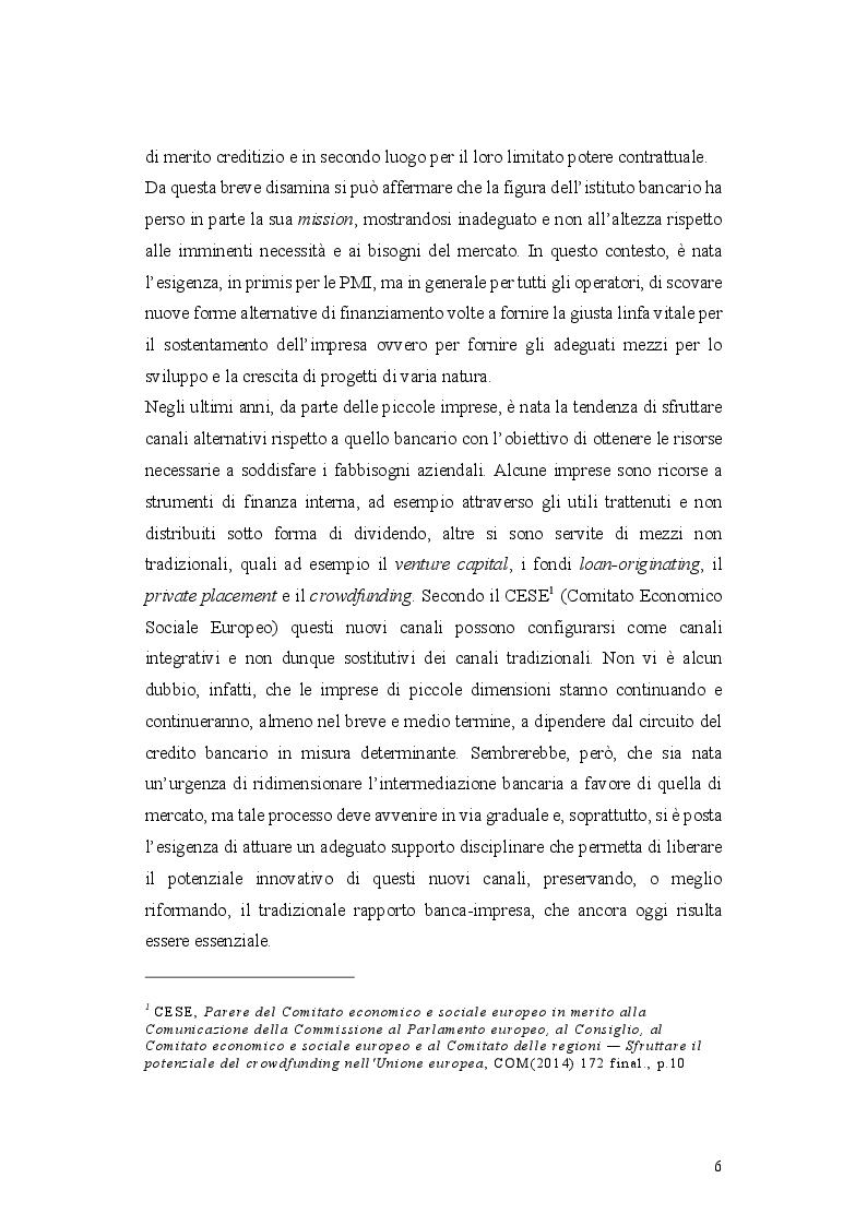 Anteprima della tesi: L'operazione di Equity Crowdfunding, Pagina 5