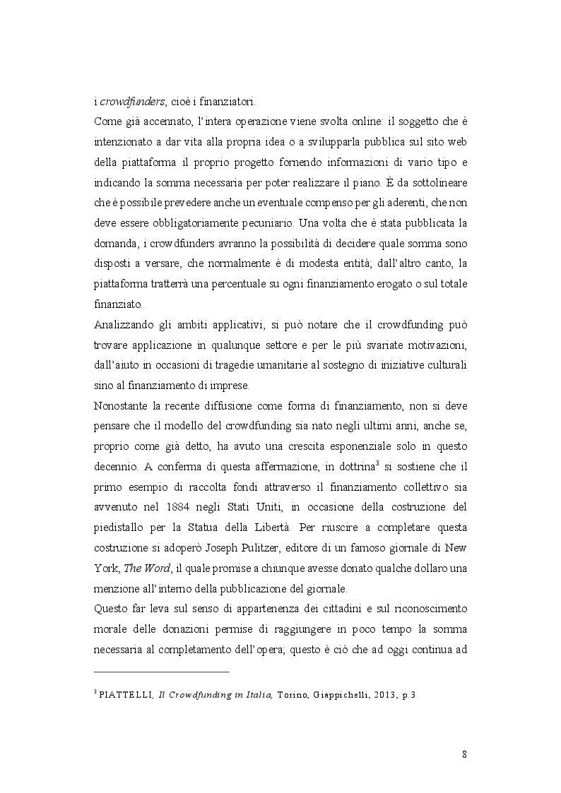 Anteprima della tesi: L'operazione di Equity Crowdfunding, Pagina 7