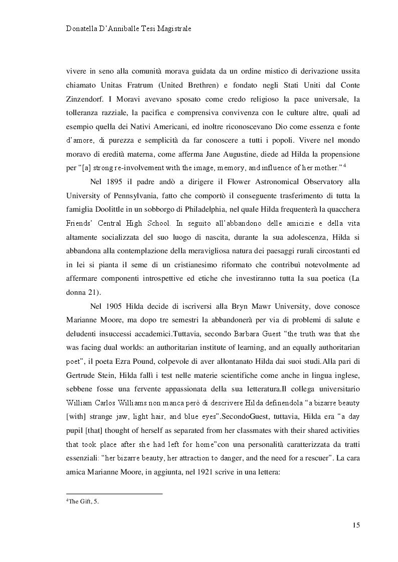 Anteprima della tesi: Hilda Doolittle e la riscrittura del Mito di Elena: Proposta di Traduzione di Helen in Egypt, Pagina 9
