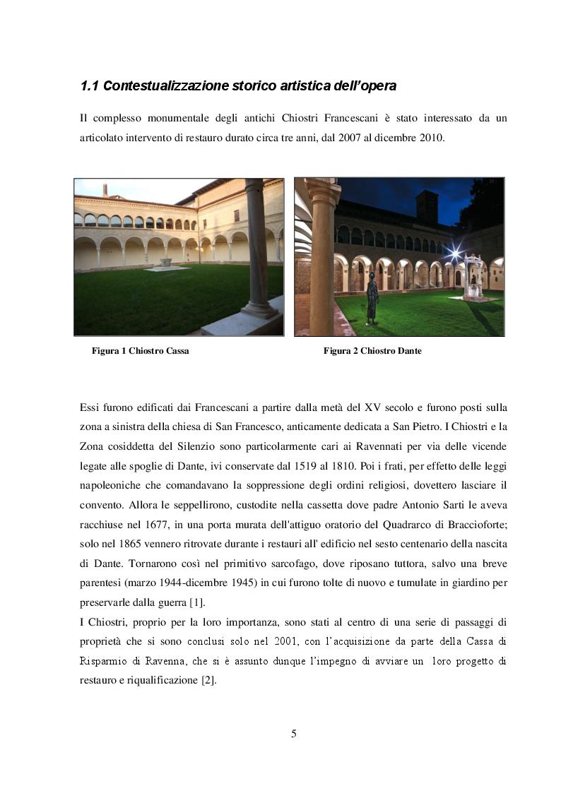 Anteprima della tesi: I dipinti murali dei chiostri francescani: indagini diagnostiche micro-invasive per la caratterizzazione della tecnica pittorica e dello stato di conservazione, Pagina 3