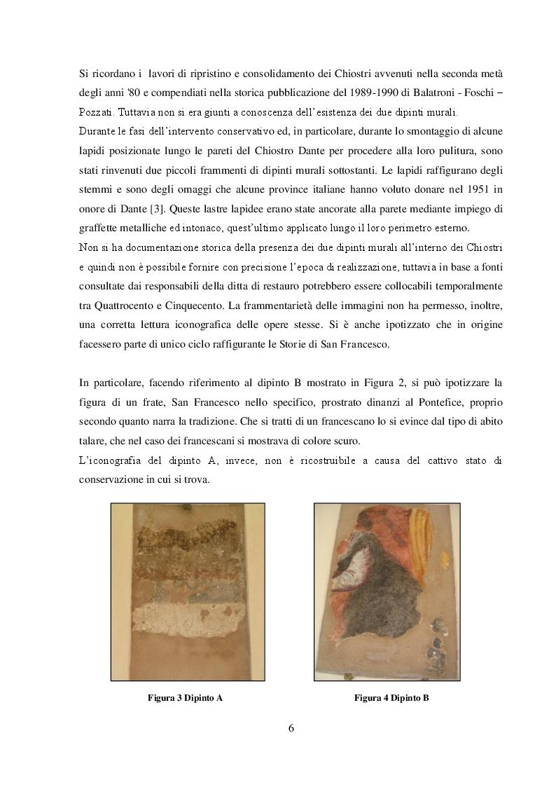 Anteprima della tesi: I dipinti murali dei chiostri francescani: indagini diagnostiche micro-invasive per la caratterizzazione della tecnica pittorica e dello stato di conservazione, Pagina 4