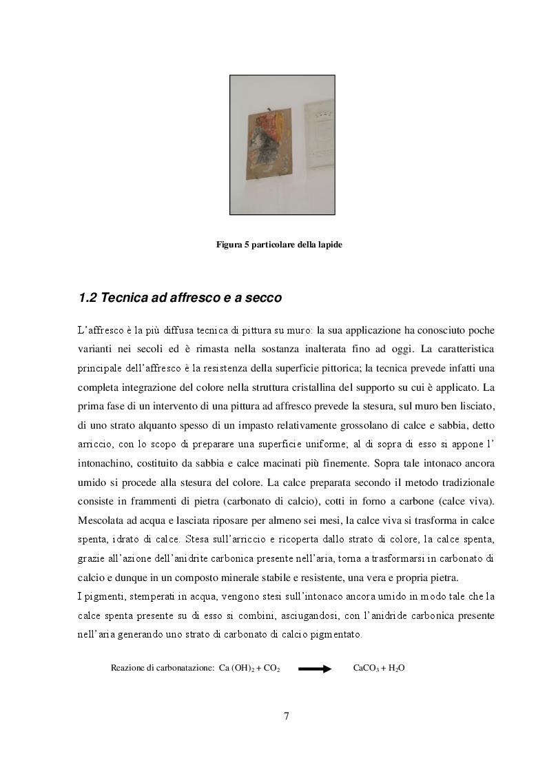 Anteprima della tesi: I dipinti murali dei chiostri francescani: indagini diagnostiche micro-invasive per la caratterizzazione della tecnica pittorica e dello stato di conservazione, Pagina 5