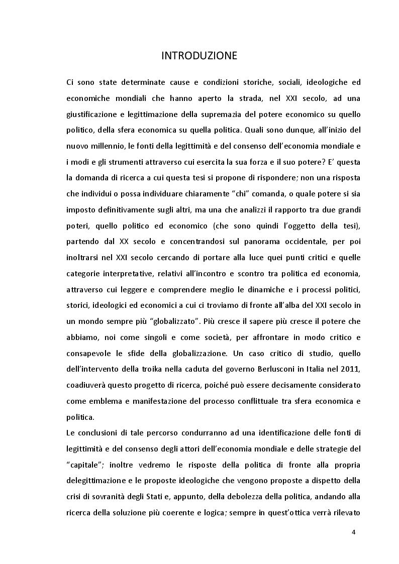Anteprima della tesi: Potere politico e potere economico nell'era della globalizzazione: un rapporto complesso, Pagina 2