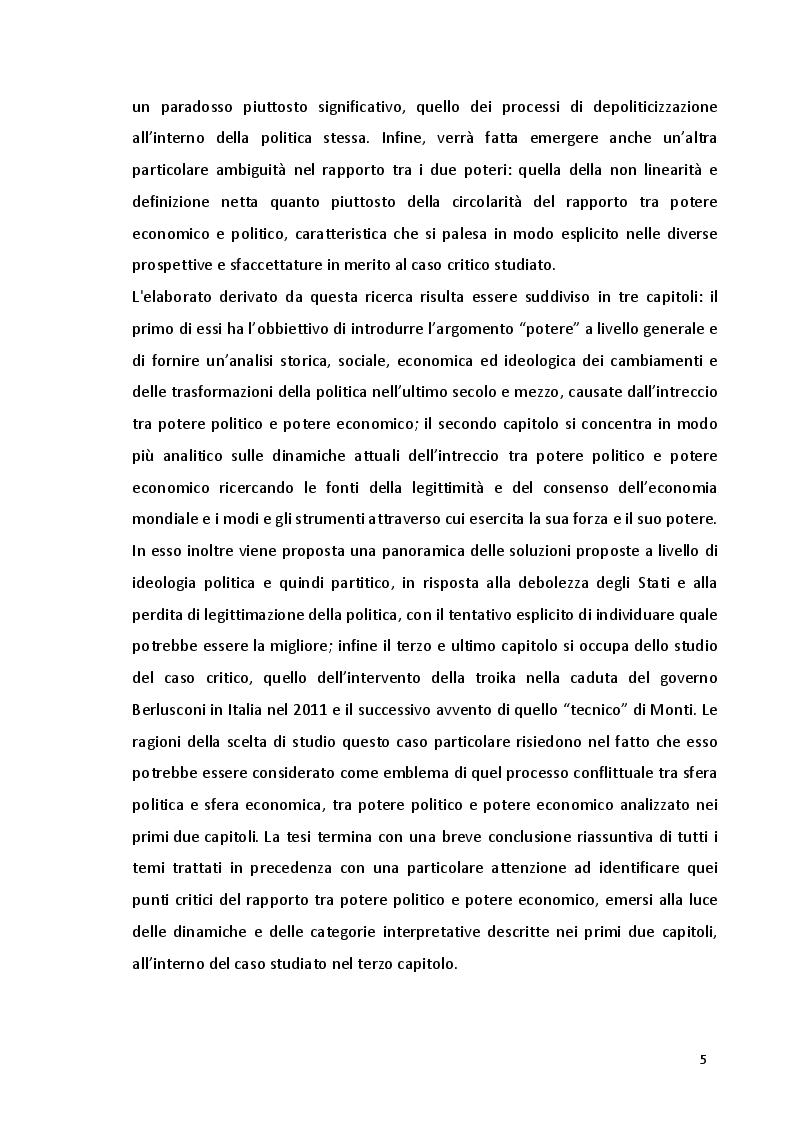 Anteprima della tesi: Potere politico e potere economico nell'era della globalizzazione: un rapporto complesso, Pagina 3