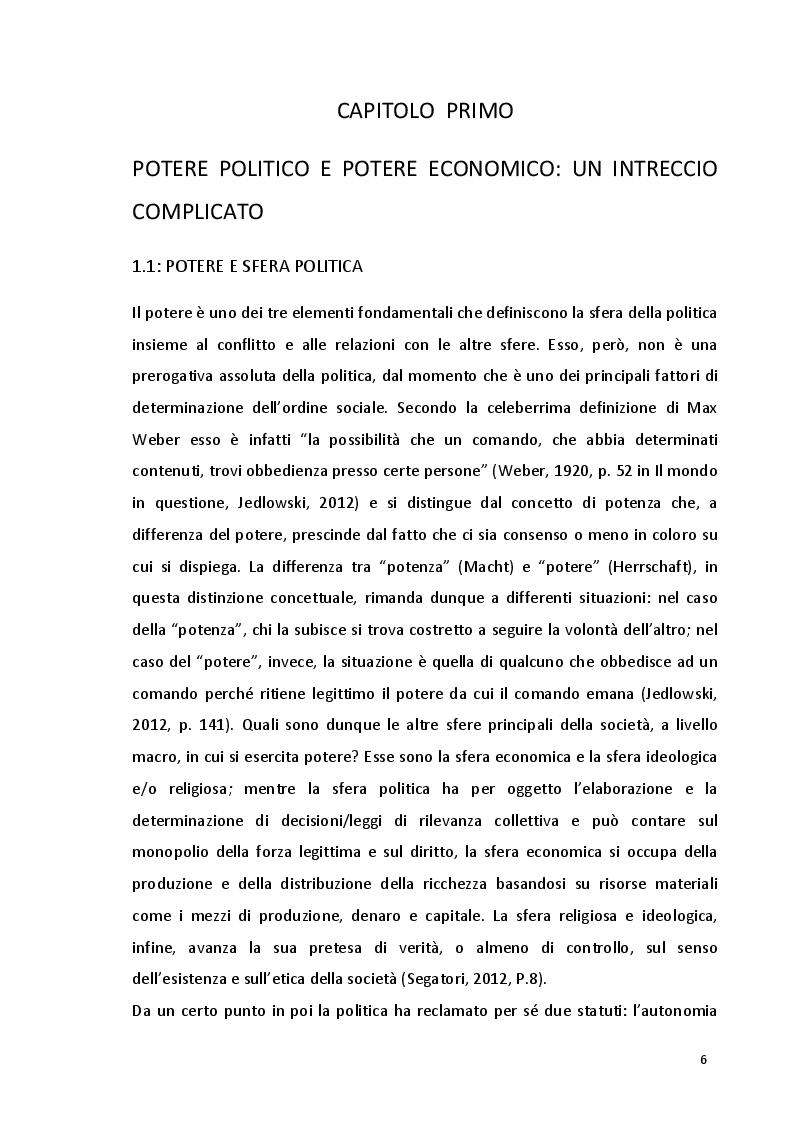 Anteprima della tesi: Potere politico e potere economico nell'era della globalizzazione: un rapporto complesso, Pagina 4