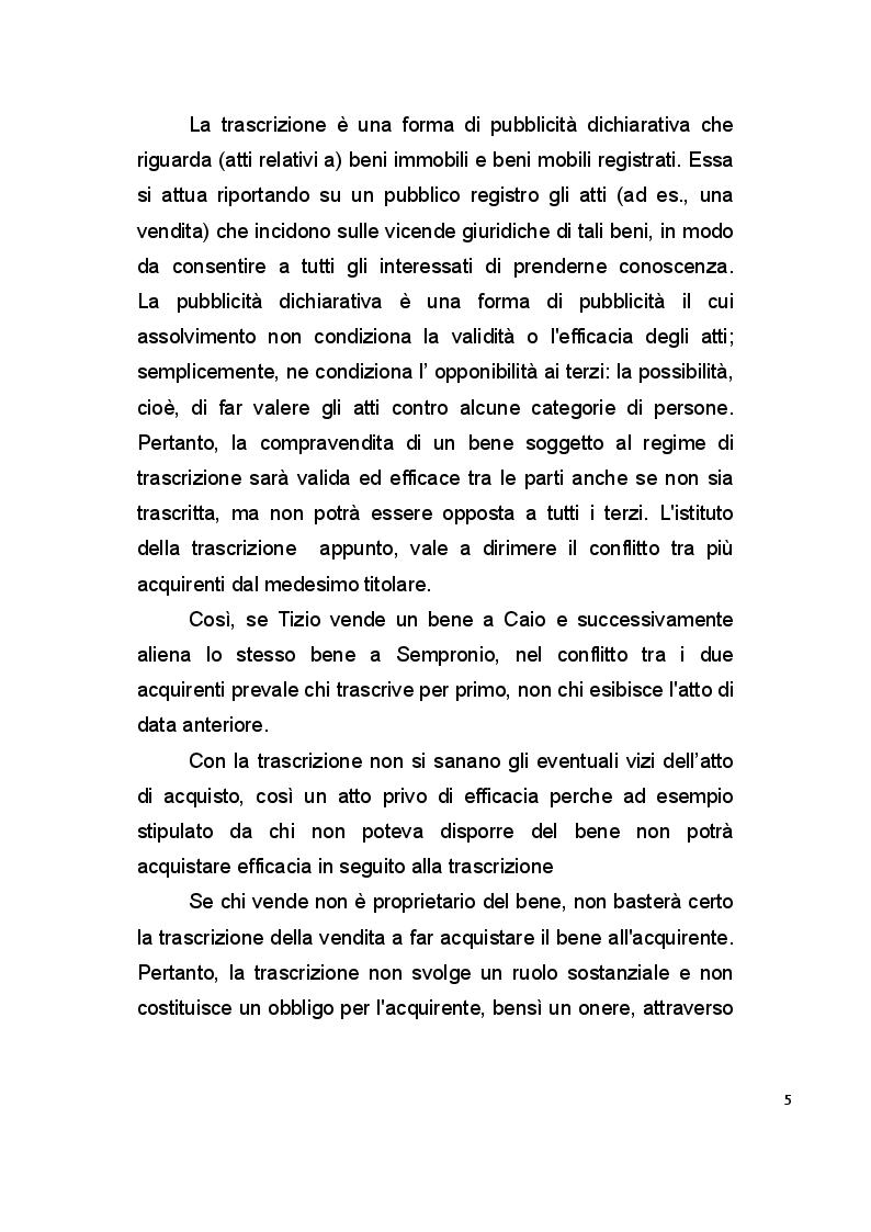 Anteprima della tesi: La pubblicità mobiliare degli autoveicoli, Pagina 3