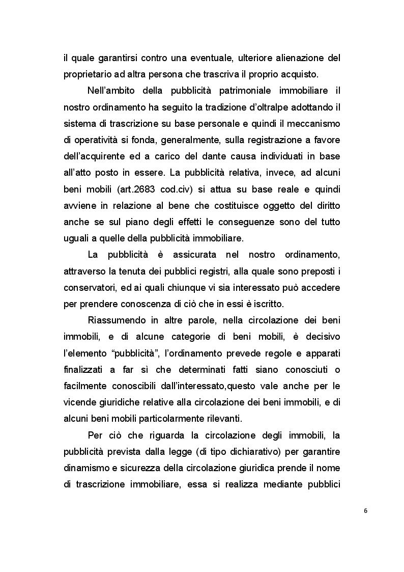Anteprima della tesi: La pubblicità mobiliare degli autoveicoli, Pagina 4