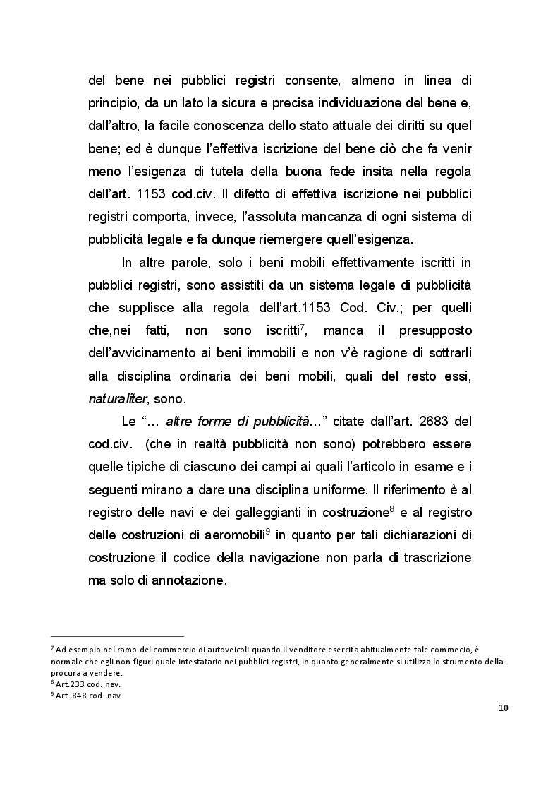 Anteprima della tesi: La pubblicità mobiliare degli autoveicoli, Pagina 8