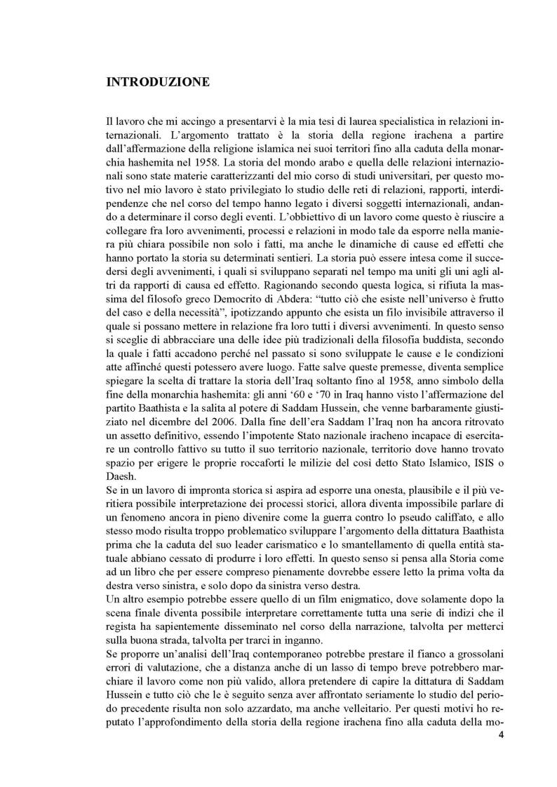 Anteprima della tesi: L'Iraq da provincia dell'Impero Ottomano alla caduta della monarchia (1514 - 1958), Pagina 2