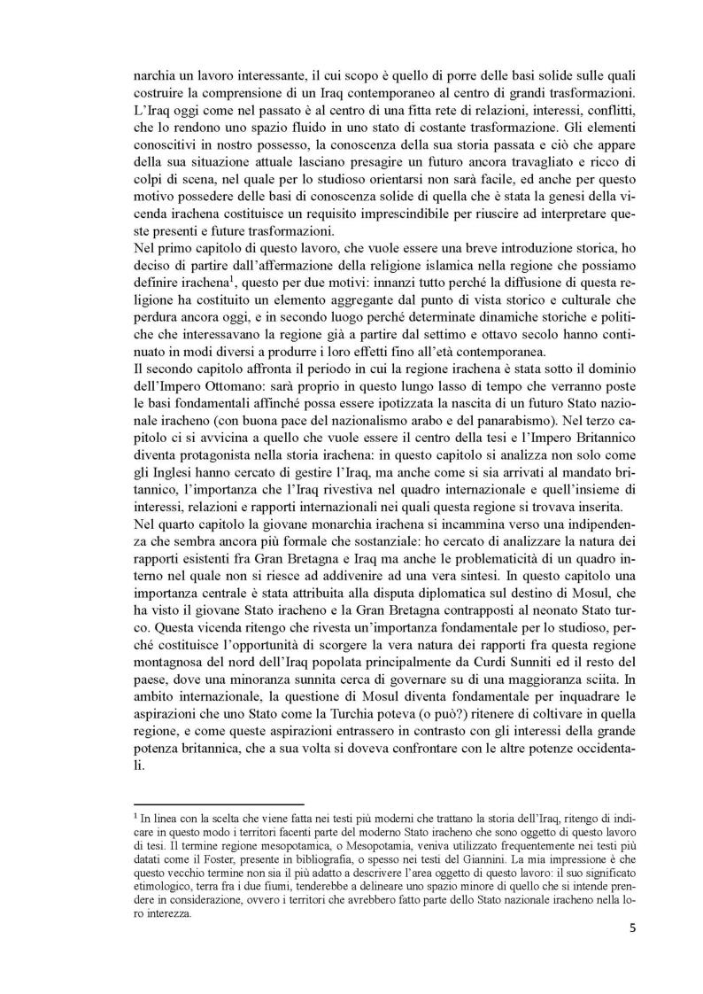 Anteprima della tesi: L'Iraq da provincia dell'Impero Ottomano alla caduta della monarchia (1514 - 1958), Pagina 3