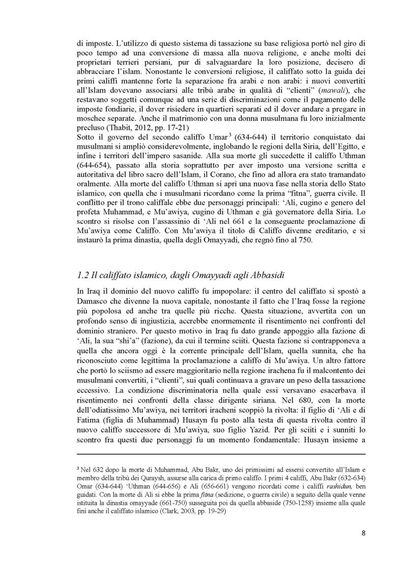 Anteprima della tesi: L'Iraq da provincia dell'Impero Ottomano alla caduta della monarchia (1514 - 1958), Pagina 6