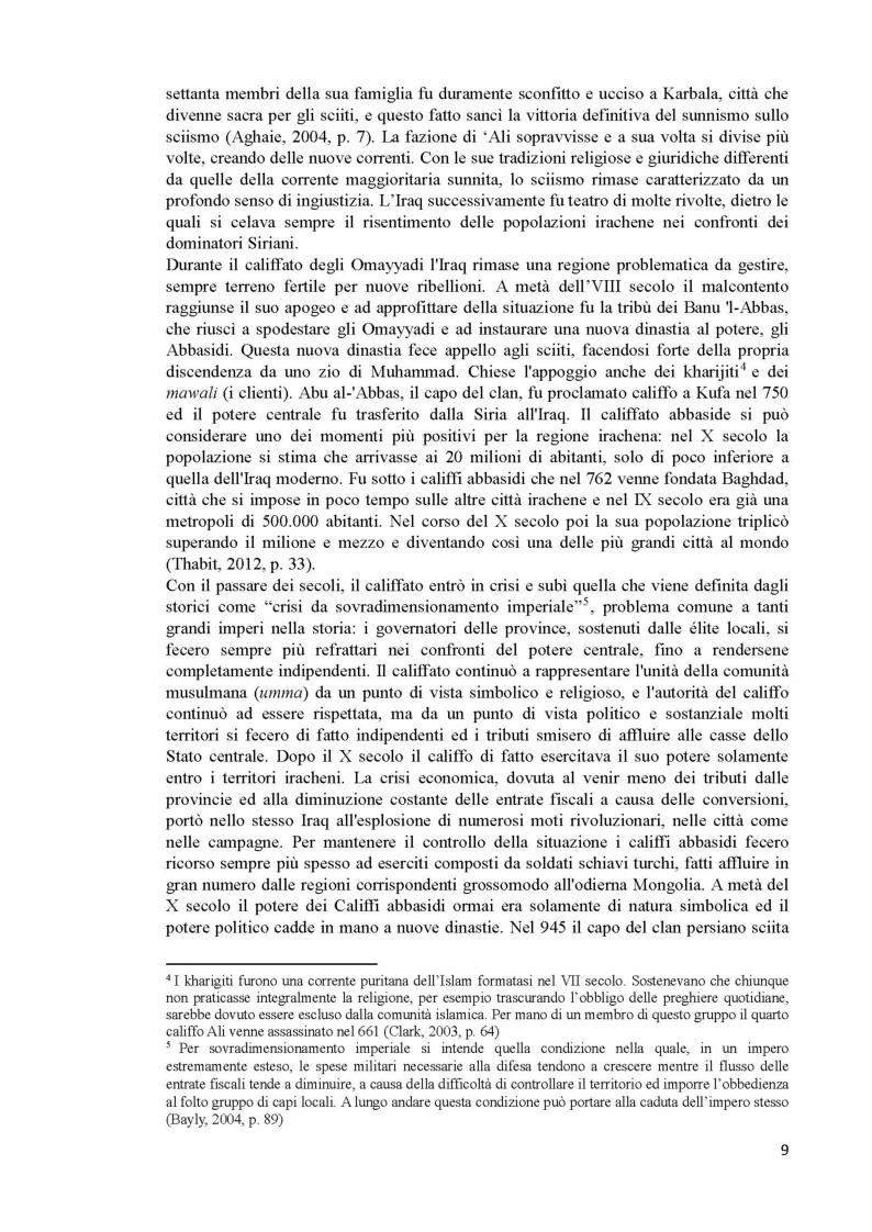 Anteprima della tesi: L'Iraq da provincia dell'Impero Ottomano alla caduta della monarchia (1514 - 1958), Pagina 7